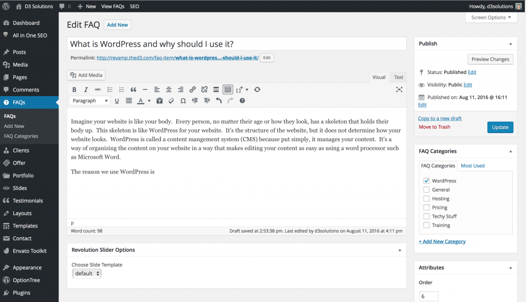 WordpressAdmin