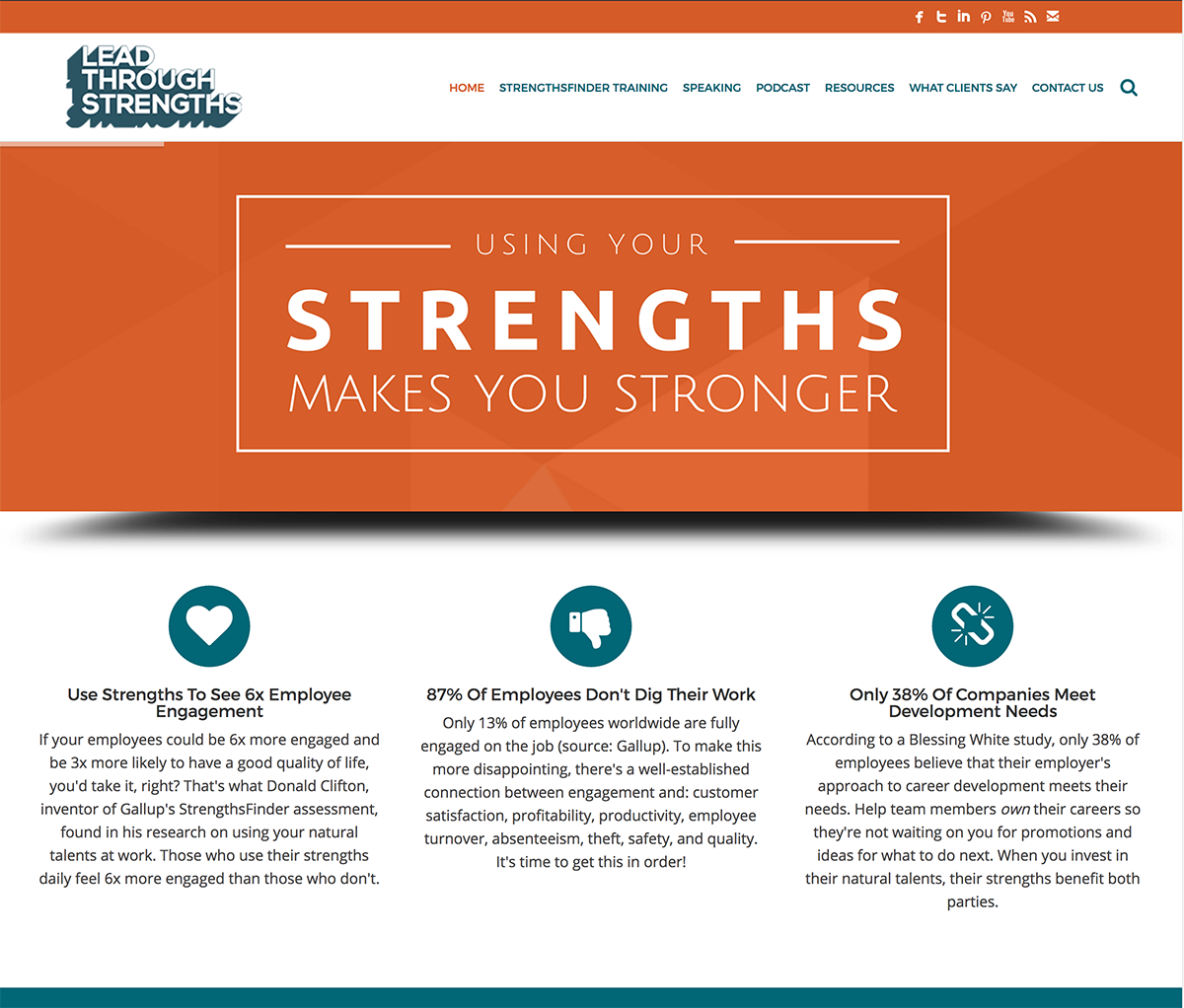 lead through strengths d solutions client lead through strengths
